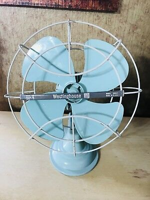 Vintage Mid Century Art Deco Westinghouse Model A010-1 Mint Green Retro Sea foam