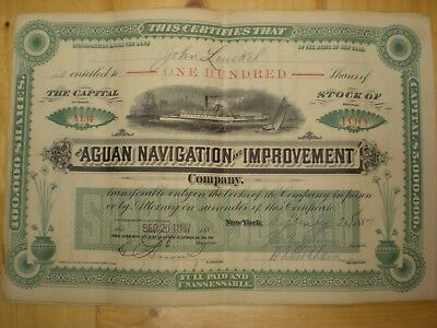 Rare Vintage Aguan Navigation and Improvement Company