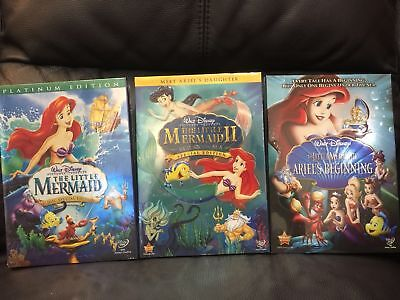The Little Mermaid Trilogy DVD Bundle Set, Ariels Beginning, Return to Sea