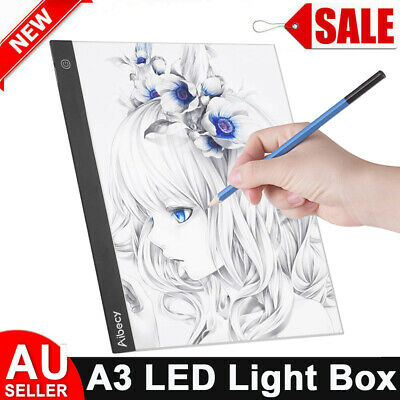 Aibecy A4 LED Tracing Light Box Art Draw Board Stencil Diamond Painting Pad AU
