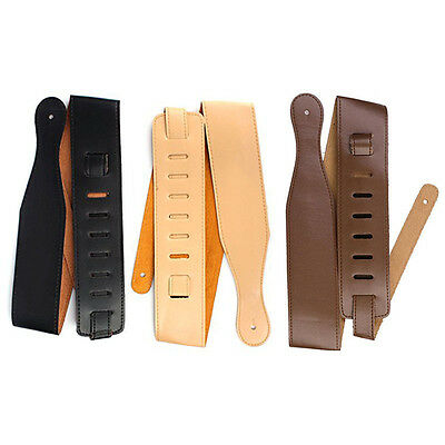 Adjustable Soft Leather Thick Strap for Electric Acoustic Guitar Bass 3Color