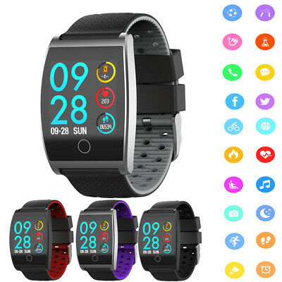 QS05 Smart Watch Heart Rate Blood Pressure Monitor Exercise Pedometer Tracker UK