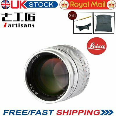 UK 7artisans 50mm F1.1 Leica Fixed Silver Lens For Leica M-M M6 M7 M8 M9+ Gift