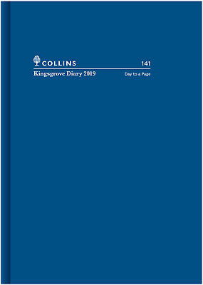 Diary 2019 Collins Kingsgrove Blue A4 Day to Page #141 NEW