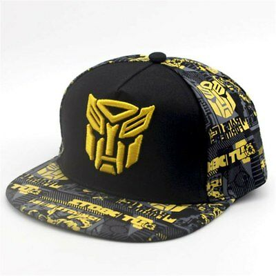 Boys Transformers BumbleBee Black/Yellow Snap back Baseball Cap Hat