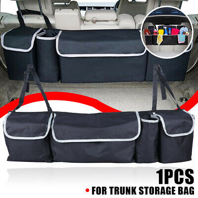 Black Car Back Seat Trunk Storage Bag Organizer Pocket High Capacity Multi-use