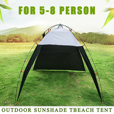 5-8 Person Outdoor Canopy Portable Camping Sun Shade Shelter Triangle Beach Tent