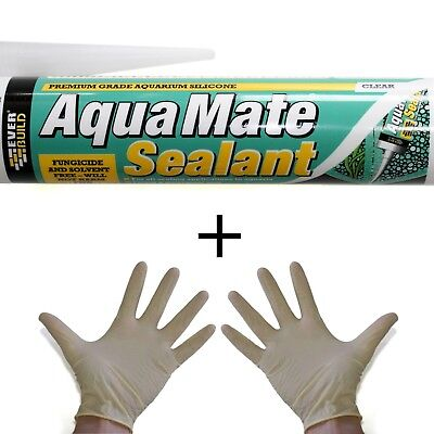 Free Gloves Quality Aquarium Marine Fish Tank Silicone Sealant Sealer pond clear