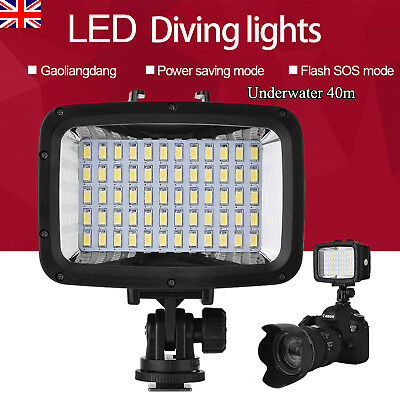 40M 1800LM Underwater Waterproof Diving 60 LED Video Light Fill Lamp For Camera