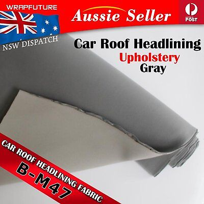 Grey Gray Car Headlining Fabric Upholstery Foam Replacement Roof Lining 1.5Mx1M