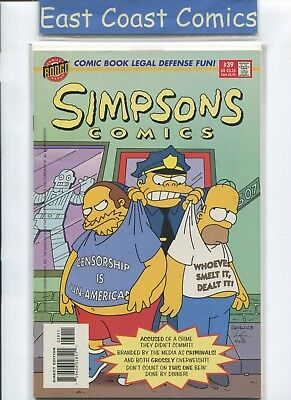 Simpsons Comics #39 - Nm - Bongo Us