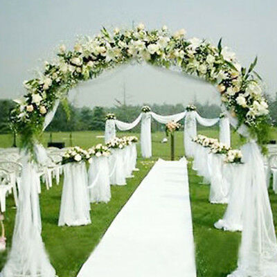 1-4Pcs 10M Wedding Backdrop Gauze Curtain Wedding Party Venus Home Outdoor Decor