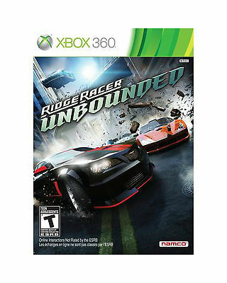 Ridge Racer Unbounded (Microsoft Xbox 360, 2012) NEW SEALED NAMCO FAST SHIPPING