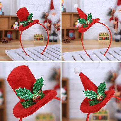 Christmas Top Hat Headband Headwear Adult Children Hair Hoop Xmas Party Props