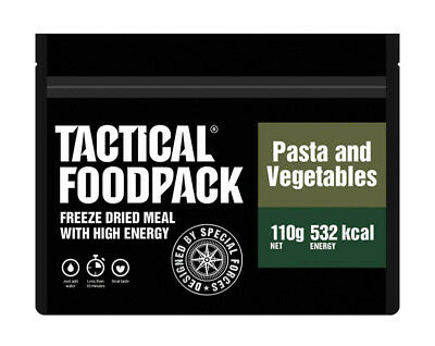 TACTICAL FOODPACK® Pasta and Vegetables 2er Pack 220g Pasta mit Gemüse