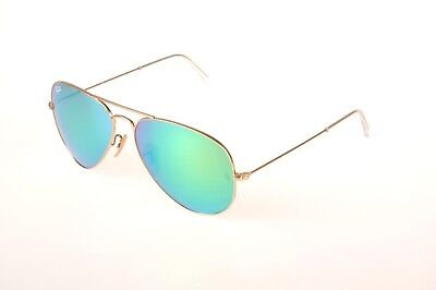 8310ef611 New Ray-Ban Sunglasses Aviator RB 3025 112/19 3N Green Mirrored Lens Gold