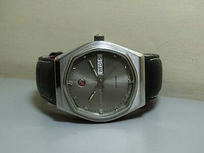 Vintage Rado Voyager Automatic Day Date Swiss Made Wrist Watch e767 Old Antique