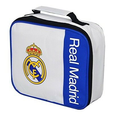 (White/Blue/Yellow, One Size) - FC Real Madrid Thermo Lunch Bag Wordmark