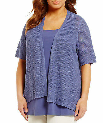 Eileen Fisher Plus Elbow Sleeve Cardigan Womens Size 1X NWT $218