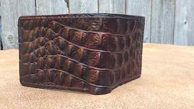 High quality hand made genuine leather wallet crocodile embossed