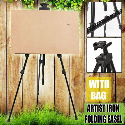 Telescopic Artist Field Studio Painting Easel Tripod Display White Board Stand