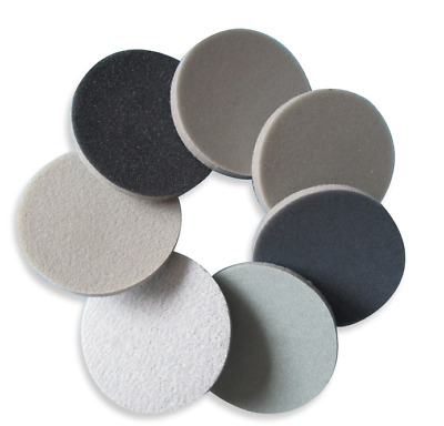 "2"" Wet Dry Sponge Foam Sandpaper Hook Loop 300-3000 Grit Sanding Sheet Discs"