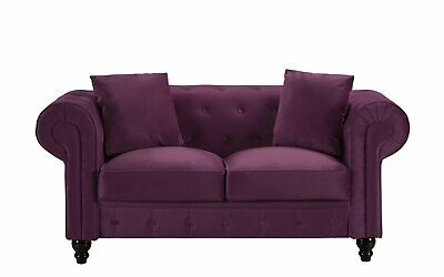 Superb Antique Grey Velvet Scroll Arm Tufted Small Space Pabps2019 Chair Design Images Pabps2019Com