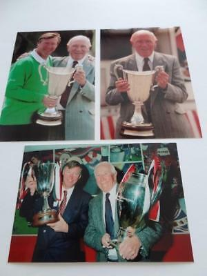 Manchester United FC legends Sir Alex Ferguson and Sir Matt Busby photographs