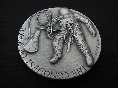 Medallic Art Co. NY 5.3 oz. 999 Pure Silver Conquest of Space Medal Round