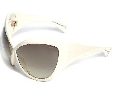 6ad8ea8d25 Tom Ford DAPHNE Sunglasses Ivory Frame Gradient Lens FT0219 25P 71-05 115