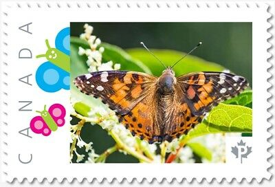 BUTTERFLY = top view = Picture Postage stamp = MNH Canada 2018 [p18-01sn14]