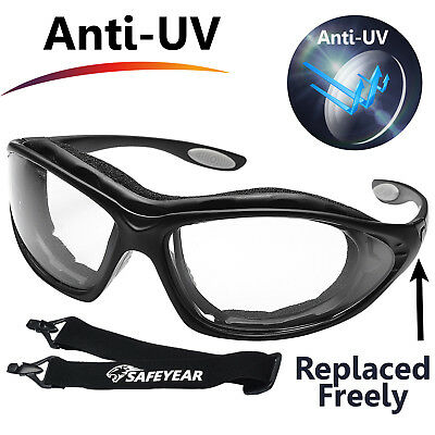 SAFEYEAR Safety Glasses Lab Work Protective Anti-fog Seal Eye Protection Goggles