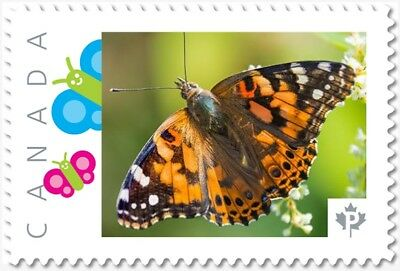 BUTTERFLY = top = Picture Postage stamp = MNH Canada 2018 [p18-01sn13]