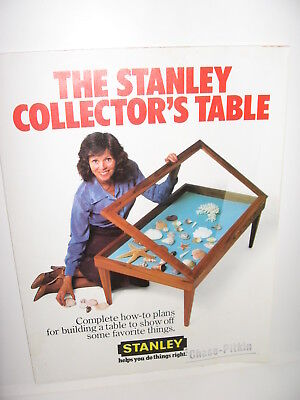 Stanley Tools Advertising Collector's Table How to Plans 1982 Multi Fold Sheet