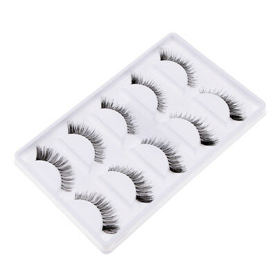 12mm Pro Maquillage Main 5 Paires 12mm Naturel Long Faux Cils Extension