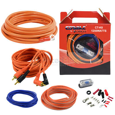 Orion 8 Gauge Amp Kit Amplifier Install Wiring Installation Power Wire Complete