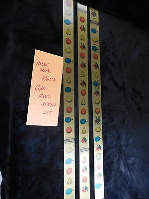 Mills Reproduction Mills Horsehead Bonus Reel Strips For Gold Slot Machine