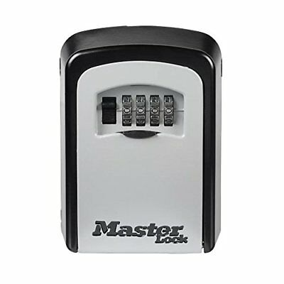 """Master Lock 5401D Lock Box, Set Your Own Combination Wall Mount Key Safe, 3-1/4"""""""