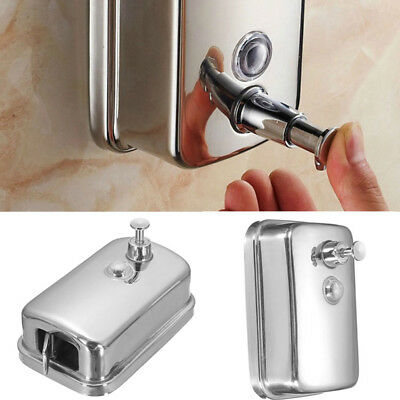Stainless Steel Wall Mounted Lotion Pump Soap/Shampoo Dispenser Bathroom Kitchen