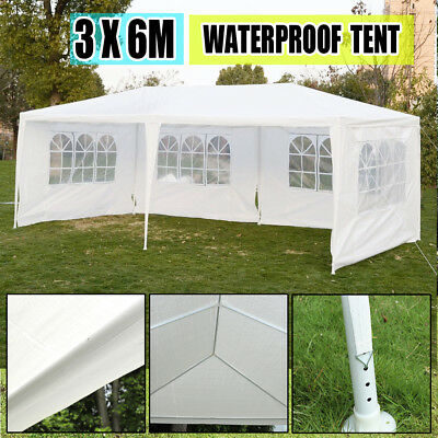 3 x 6m White Party Wedding Tent Canopy Heavy Duty Gazebo Pavilion Events Tent