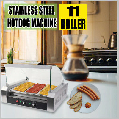 Electric Commercial 30 Hot Dog 11 Roller Hotdog Grilling Warmer Cooker Machine