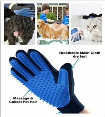 Pet Dogs Cats Fur Hair Remover Brush Silicone Deshedding Glove Grooming Cleaning
