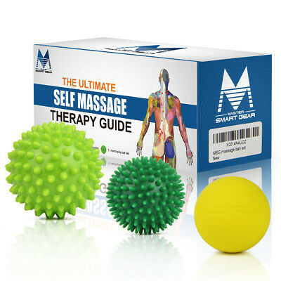 Massage Ball Set-Lacrosse and Spiky Ball -Perfect for Trigger Point Pain Relief