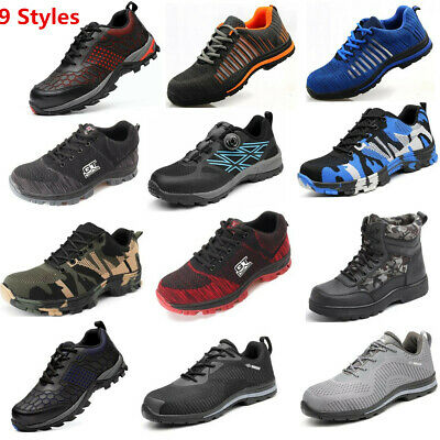 AtreGo Men Safety Boots Steel Toe Bulletproof Indestructible Shoe Racer Military