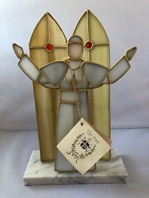 """Tiffany Stained Glass Collectors Society """"The Pope"""" Figure"""