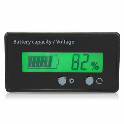 Auto LCD 12 24 36 48V Lead-Acid Battery Voltage Voltmeter Monitor Meter For Car