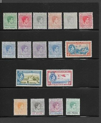 Bahamas # 100-13, Complete Set Of 17 Stamps, Most Never Hinged, See Description