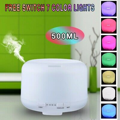 Aroma Therapy Essential Oil Diffuser Ultrasonic Air Humidifier Purifier - 500ML