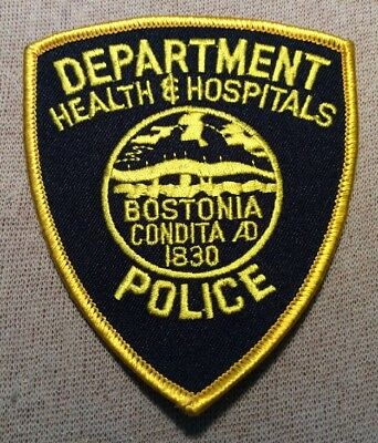 MA Boston Health & Hospitals Massachusetts Police Patch