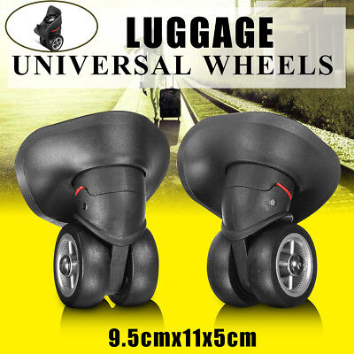 1 Pair Luggage Suitcase Wheels Replacement Trolley Travel Left & Right OD 5CM